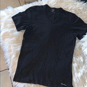Calvin Klein v neck men's shirt sz small nwot